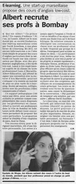 article Albert La Marseillaise