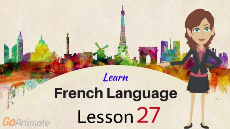 Watch Your Way To Learning French–Part 27!