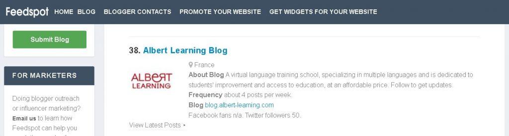 Apprendre langues avec Albert Learning