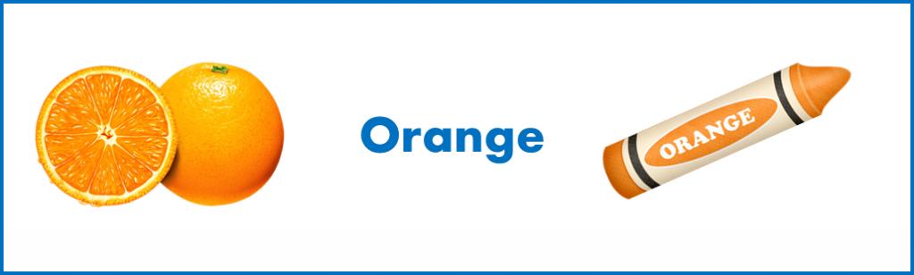 apprendre les mots anglais: signification différente de 'Orange' en anglais