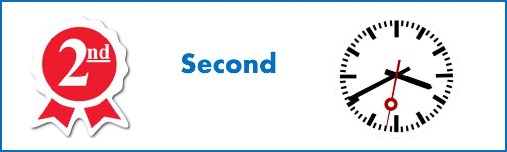 apprendre les mots anglais: signification différente de 'Second' en anglais