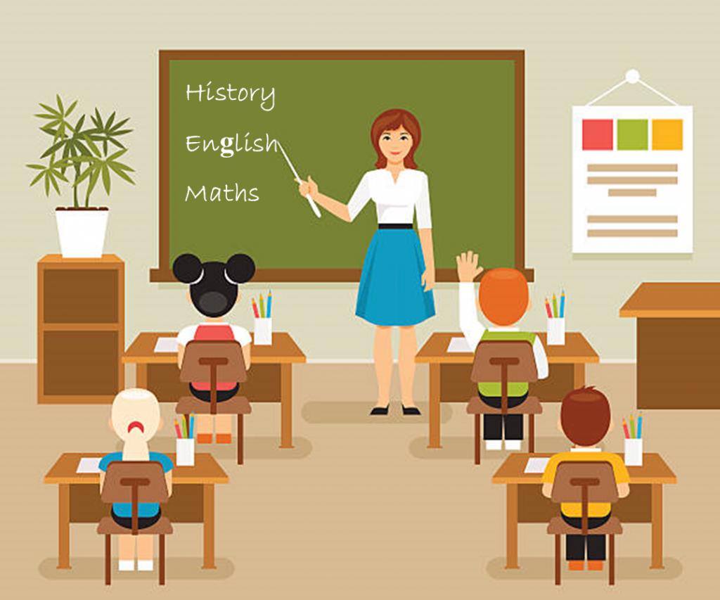 apprenez les mots anglais: un enseignant enseigne