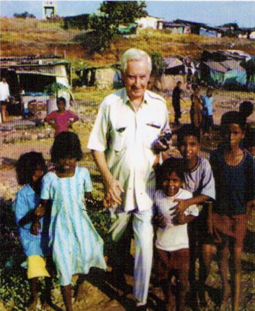 Pierre Pean with slum kids