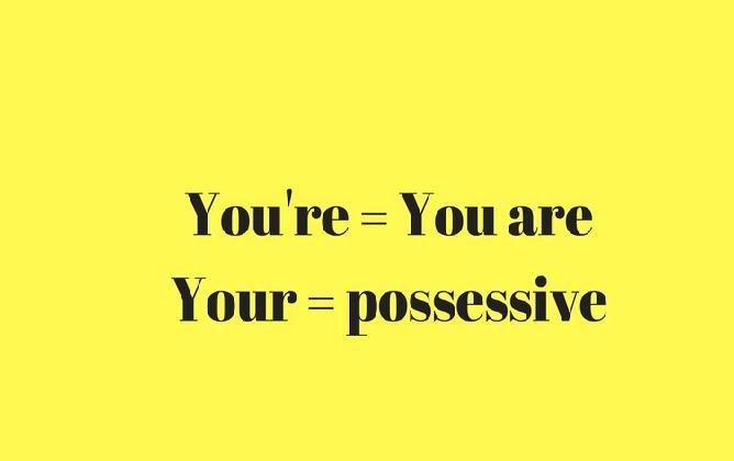 """C'est quoi la difference entre """"you're"""" et """"you are"""""""