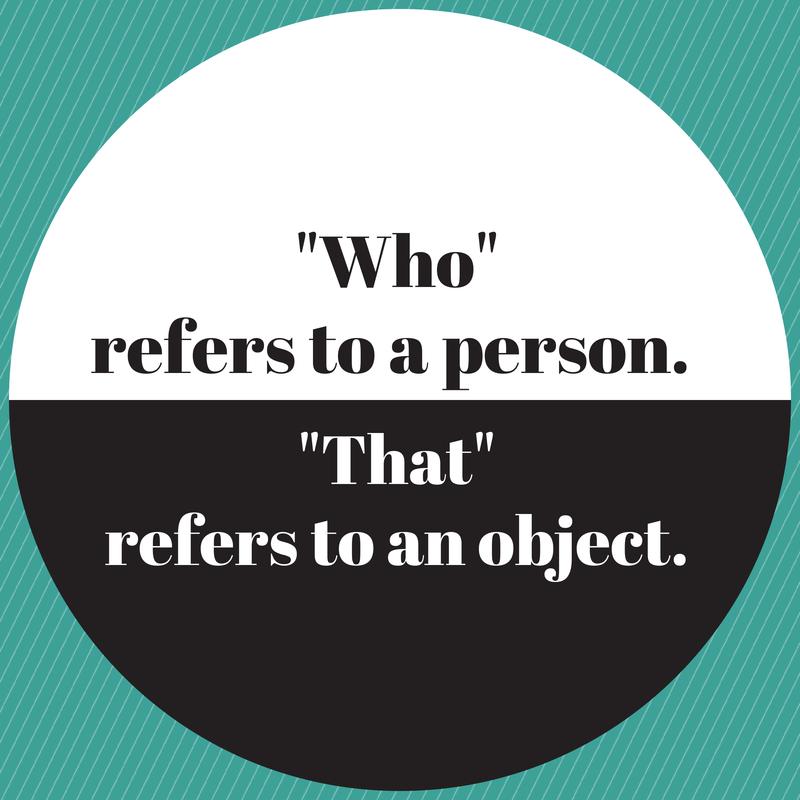 """Comment parler l'anglais et c'est quoi la difference entre """"who"""" et """"that"""""""