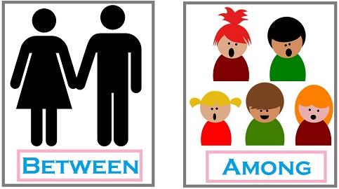 Among ou between?